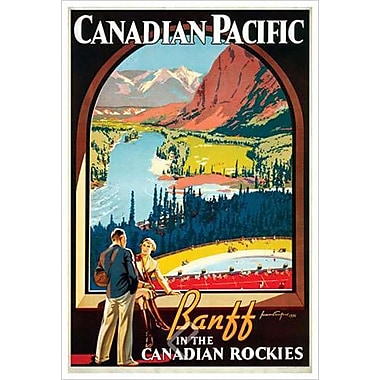 Canadian Pacific – Banff in the Canadian Rockies II, toile tendue, 24 x 36 po