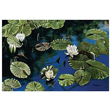 White Water Lillies by Jablonski, Canvas, 24