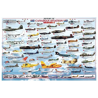 History Of Canadian Aviation, Stretched Canvas, 24