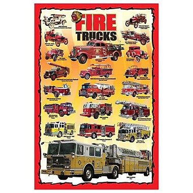 Fire Trucks for Kids, Stretched Canvas, 24