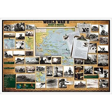 Seconde Guerre mondiale – Asie et Pacifique, toile tendue, 24 x 36 po