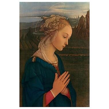 Vergine Adorazione by Lippi, Canvas, 24