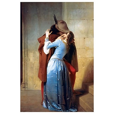 The Kiss by Hayez, Canvas, 24