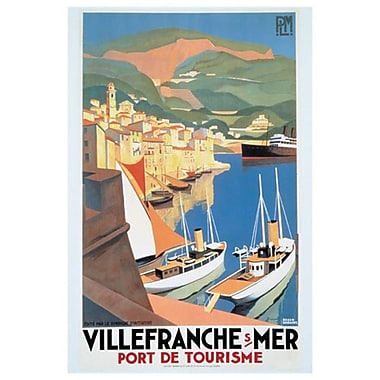 Villefranche sur mer, toile tendue, 24 x 36 po