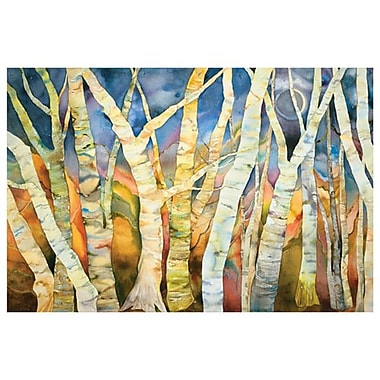 Birch Grove with Moon by Pitts, Canvas, 24