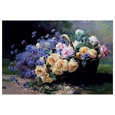 Un panier de fleurs de Furcy, toile, 24 x 36 po