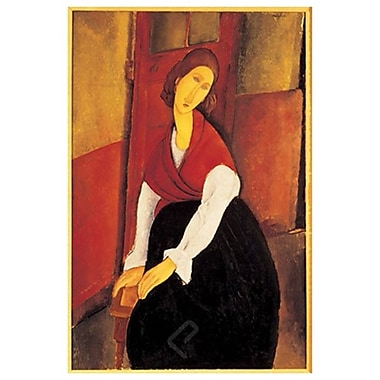 JeanneHebuterne Red by Modigliani, Canvas, 24