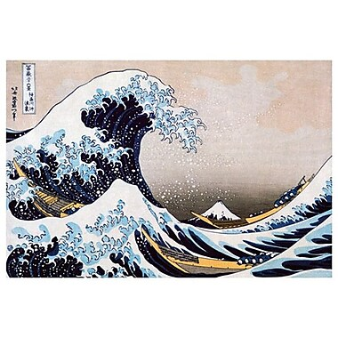 Great Wave Kanagawa by Hokusai, Canvas, 24