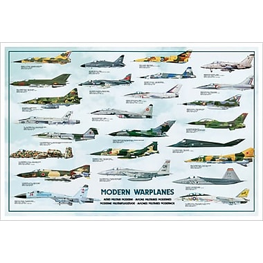 Modern Warplanes, Stretched Canvas, 24
