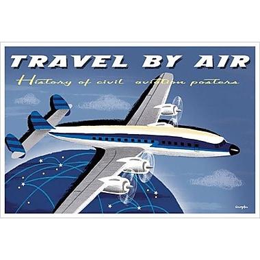 Travel by Air Civil de Crampton, toile, 24 x 36 po