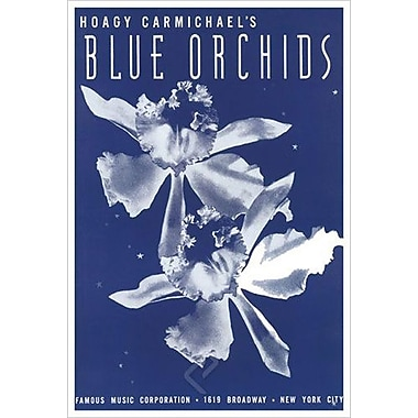 « Blue Orchids » de Carmichael par Song, toile, 24 x 36 po