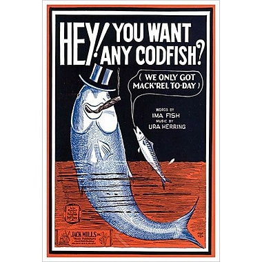 « Hey You Want Any Codfish » par Song, toile, 24 x 36 po