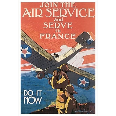 Air Serve In France by Verrees, Canvas, 24
