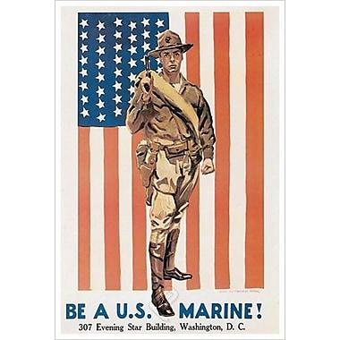 « Be A U.S. Marine » par Flagg, toile, 24 x 36 po