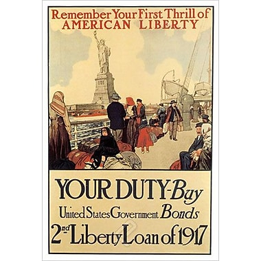 First Thrill American Liberty, Stretched Canvas, 24