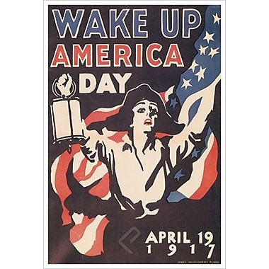 « Wake Up America Day » par Flagg, toile, 24 x 36 po