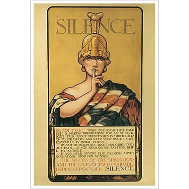 « Silence », toile tendue, 24 x 36 po