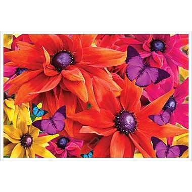 Fleurs tropicales rouges par Mullins, toile, 24 x 36 po