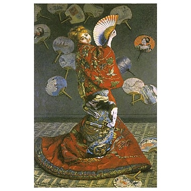 The Japanese Woman by Monet, Canvas, 24
