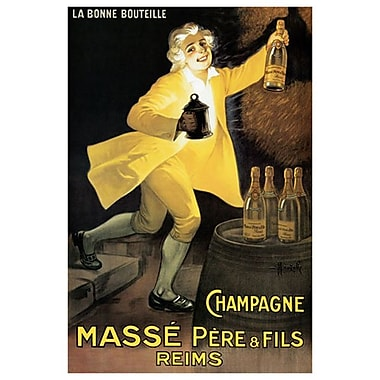 Champagne Masse, Stretched Canvas, 24