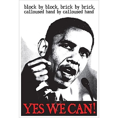 Obama - Block By Block, Stretched Canvas, 24