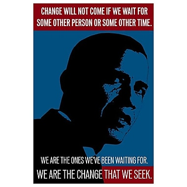 Obama - We Are The Change, Stretched Canvas, 24