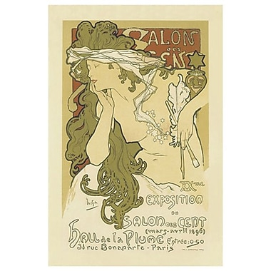 Salon Des Cent by Mucha, Canvas, 24