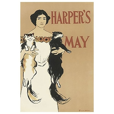 Harper's May 1897 by Penfield, Canvas, 24