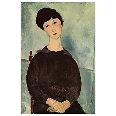 Jeune Fille Brune by Modigliani, Canvas, 24