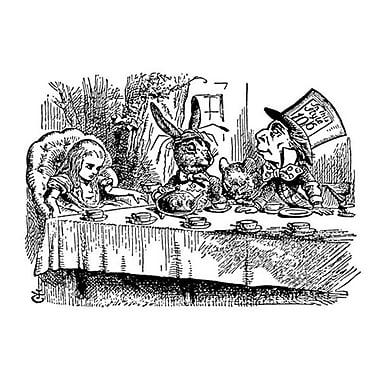 Alice au pays des merveilles 5 de Tenniel, toile, 24 x 36 po