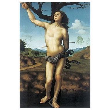 Saint Sebastian by Bugiardini, Canvas, 24
