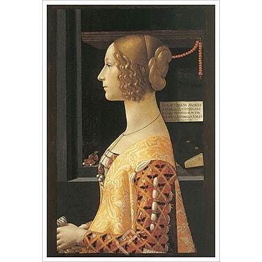 Portrait de Giovanna Tornabuoni de Ghirlandaio, toile, 24 x 36 po