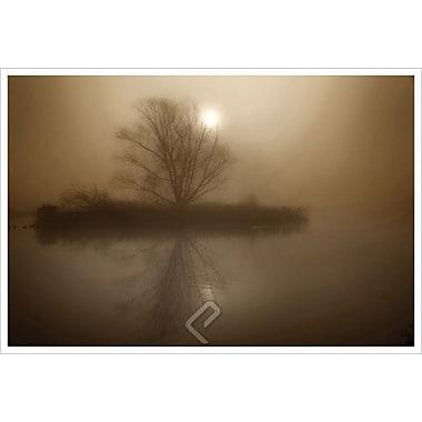 Foggy Island Sepia by Magus, Canvas, 24