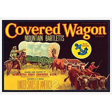 Covered Wagon Bletts, Stretched Canvas, 24