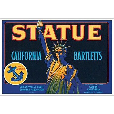 Statue California Bartletts, Stretched Canvas, 24