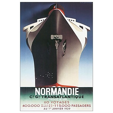 Normandie Line by Cassandre, Canvas, 24