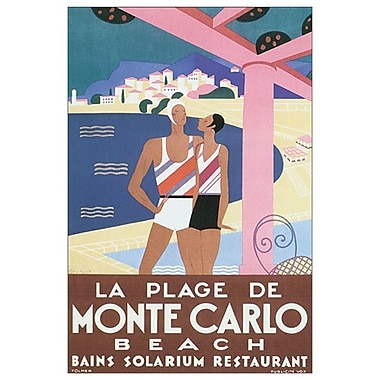 Plage Monte Carlo by Tolmer, Canvas, 24