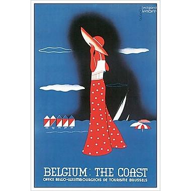 Belgique : Belgium: The Coast de Lemaire, toile, 24 x 36 po