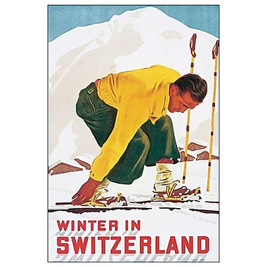 Winter in Switzerland by Hermes, Canvas, 24