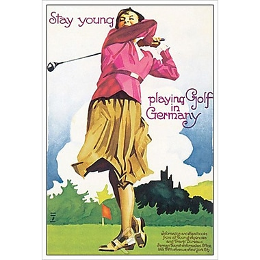 Playing Golf in Germany, Stretched Canvas, 24