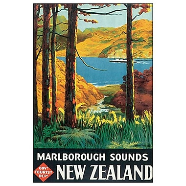 Marlborough Sounds de Mitchell, toile, 24 x 36 po