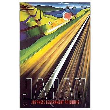 Japanese Government Railways, toile tendue, 24 x 36 po