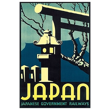 Japan Government Railways, Stretched Canvas, 24