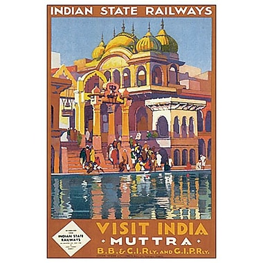 Visit India Muttra de Broders, toile, 24 x 36 po