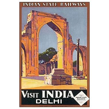 Visit India Delhi de Broders, toile, 24 x 36 po