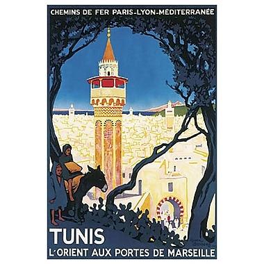Tunis, l'orient aux portes de Marseille de Broders, toile, 24 x 36 po