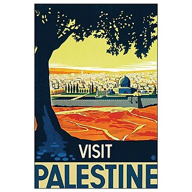 Visit Palestine by Kraus, Canvas, 24