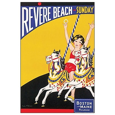 Revere Beach by Holmes W., Canvas, 24