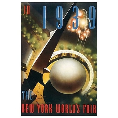 New York Fair 1939 de Culin, toile, 24 x 36 po
