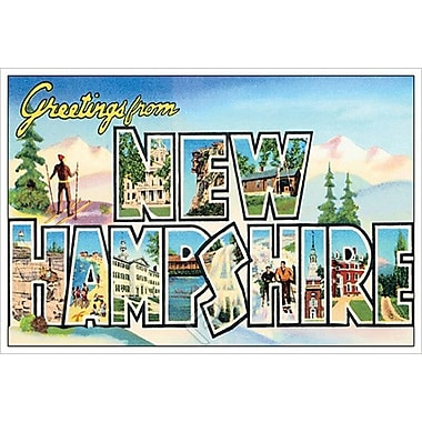 Greetings from New Hampshire, Stretched Canvas, 24